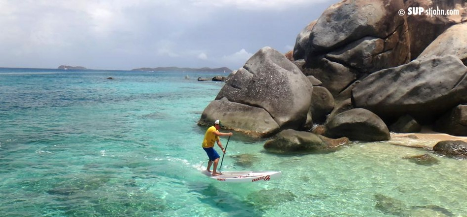 Paddleboarding on Virgin Gorda