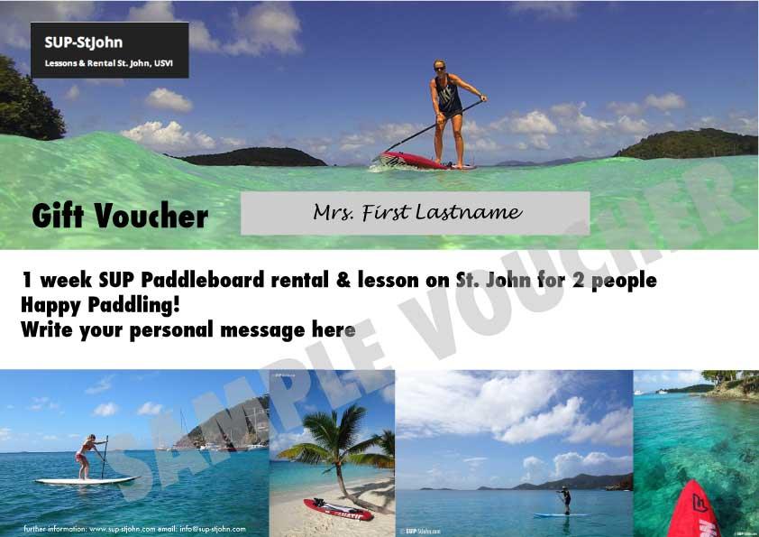 SUP St. John Gift Voucher