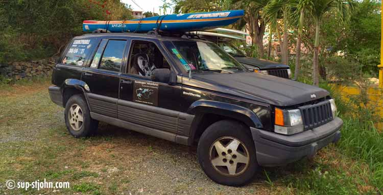 transport-paddleboards-stjohn-rental-car-allowed