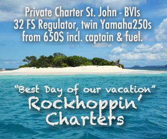 Go on Day Trip to Jost van Dyke from St. John - private Powerboat charter