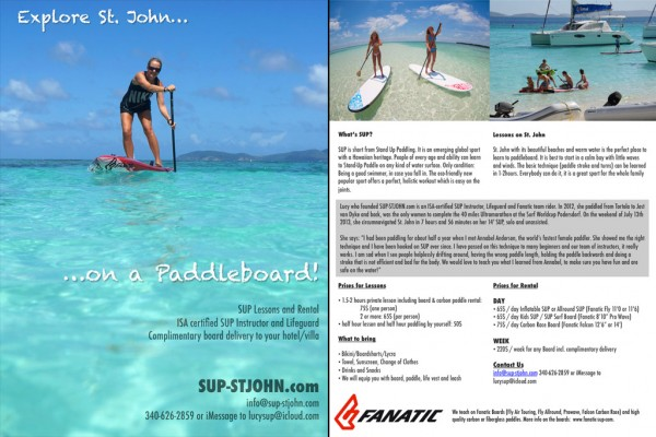SUP St. John Flyer