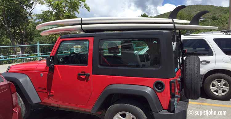 transport-paddleboards-stjohn-usvi-rental-car